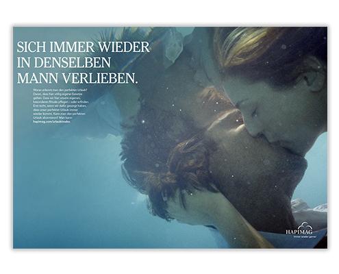 Neue Kunden gewinnen_Imagekampagne Urlaubsrituale_Motiv Küssen